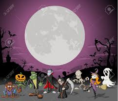 halloween background vector free halloween background with full moon over a cemetery with funny