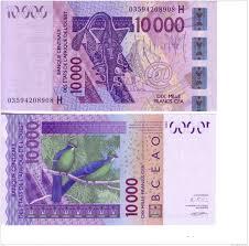 niger h afrique de l ouest west africa 10000 cfa bceao pick 618h