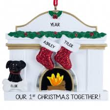 couples 1st together ornaments personalized