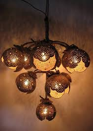 Coconut Shell Chandelier Hanging L Wood Coconut Shell Chandelier Lighting By Boonrat