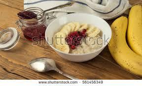 healthy breakfast mosley candied fruit milk stock photo 456695293