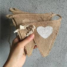 aliexpress com buy love heart print jute flags hessian fabric