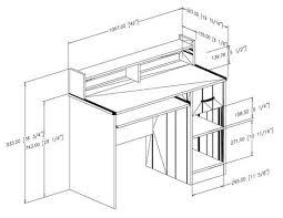 hauteur de bureau de travail bureau de travail collection smart basics de meubles south shore