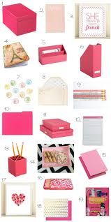 Wicker Desk Accessories by Best 25 Pink Desk Ideas On Pinterest Pink Home Offices Pink