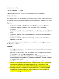 us government lesson plan u s state lesson plan