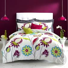 zandra rhodes anoushka duvet cover white blue green purple cotton