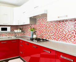 Red Backsplash Kitchen Kitchen Red Kitchen Ideas For Decorating With Marble Countertop