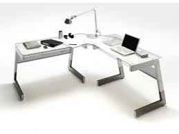 bureau angle verre noir bureau design avec plateau en verre noir luigi