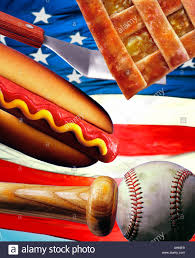 American Flag Pie Recipe Montage Of An American Flag A Dog With Mustard A Baseball Bat