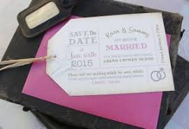 luggage tag save the date luggage tag save the dates serendipity beyond design