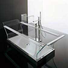 transparent bathtub fully transparent glass bathtub from novellini freshome com