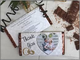 thank you wedding gifts personalised wedding day thank you 114g galaxy chocolate guests