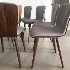 direct line sede sede black leather walnut dining chair dining chairs article
