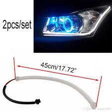 best led daytime running lights 45cm led drl diy flexible daytime running light soft article l