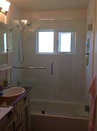 tub with glass shower door glass shower stalls showcase shower door