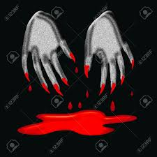3d halloween background halloween sign spooky 3d hands with bloody claws on black
