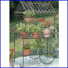 Patio Bakers Rack Bakers Rack Plant Stand Outdoor Patio Decor Metal Multiple Plants