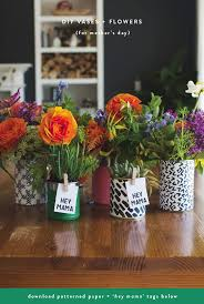 Diy Flower Arrangements Diy Mother U0027s Day Flower Arrangements Vases Freebies Rae Ann Kelly