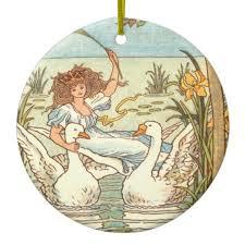 grey goose and gander ceramic ornament zazzle