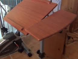 Adjustable Laptop Desks by Adjustable Rolling Laptop Desk Hw45563 Assembly And Review Youtube