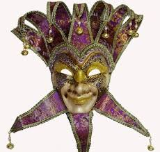 buy masquerade masks 4 save masquerade jester masks with purple collars and mix gold
