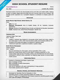 Sample Skills For Resume by High Student Resume Sample U0026 Writing Tips Resume Companion