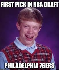Nba Draft Memes - bad luck brian meme imgflip
