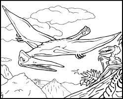 underwater dinosaurs coloring pages pterodactyl coloring page gallery pages for pertaining to design 15