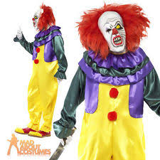Scary Clown Costumes Halloween Scary Clown Costume Ebay