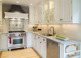 backsplash for small kitchen small kitchen layout white kitchen cabinets backsplash