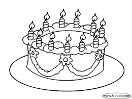 birthday cake coloring page bebo pandco