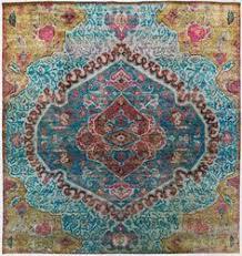 Aqua Silk Rugs Turkish 4 U00274