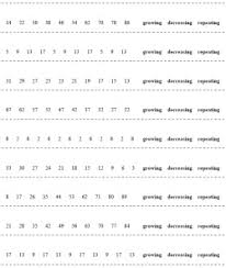 mathematical sequences and number patterns printables and worksheets