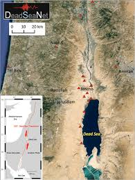 map of the dead map of the dead sea region with location of deadseanet mini arrays