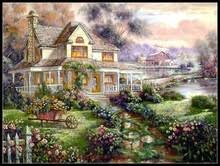 Country Cottage Cross Stitch Online Get Cheap Cottage Fabric Aliexpress Com Alibaba Group