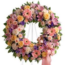 Flower Delivery Chicago Graceful Funeral Wreath T2391 Florist Delivery In Chicago And