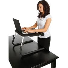 Standing Desk For Laptop Fitdesk Tabletop Standing Desk White Walmart
