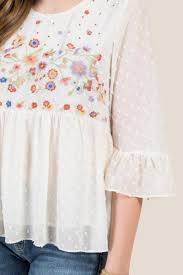swiss dot blouse tobin bell sleeve yoke swiss dot blouse s