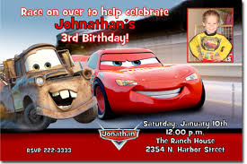 cars movie birthday invitations candy wrappers