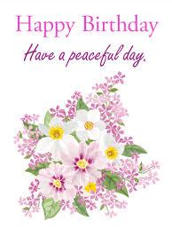 have a peaceful day happy birthday card birthday u0026 greeting