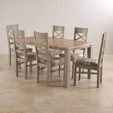 Dining Table With Grey Chairs St Ives Grey Furniture For Every Room Oak Furniture Land
