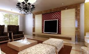 modern living room with marble floor decorated with buddha st
