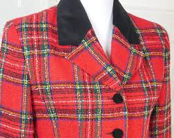 Scotch Plaid Red Plaid Jacket Etsy