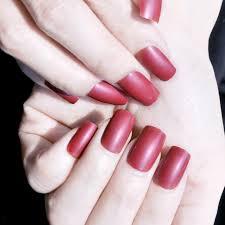 sweet kiss false nails chocolate color shiny 24pcs clear designed