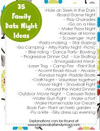Family Date Night Ideas   Inspired by Family Inspired by Familia    Family Date Night Ideas