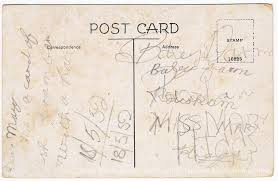 message on postcard wingrave and rowsham heritage website