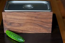 compost canister kitchen diy walnut countertop compost bin