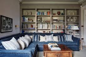 grey living room with blue sofa living room design ideas