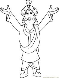 raja indravarma coloring page free chota bheem coloring pages