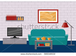home interior vector living room flat interior vector background stock vector 569346532